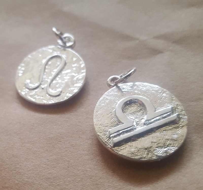 Zodiac Pendants Or Charms With Starsigns In Sterling