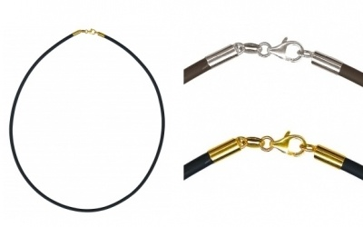 Necklets - NEOPRENE - Sterling Silver or 9ct Yellow Gold Clasp
