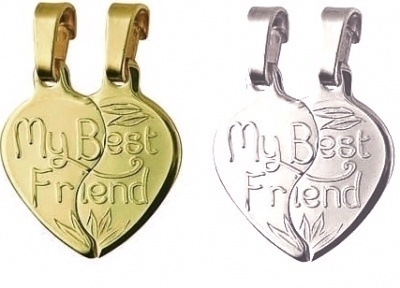 Break Apart - MY BEST FRIEND Small Heart - Sterling Silver or 9ct Gold