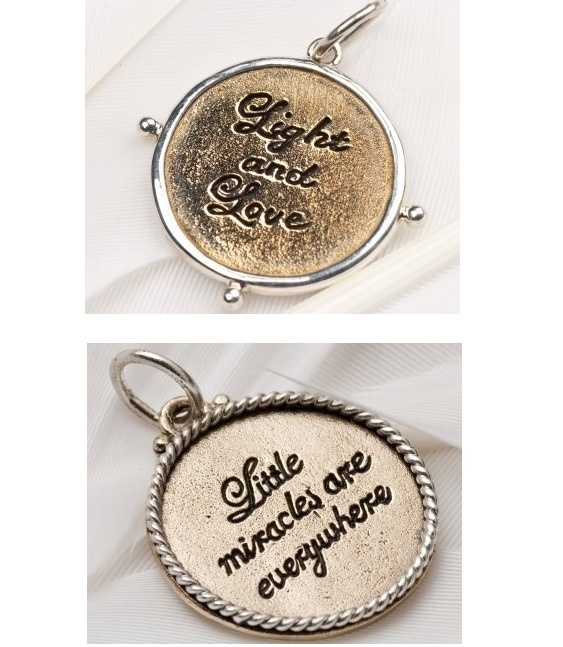 Palas Pendants - SPECIAL LITTLE WORDS - Brass & Sterling Silver