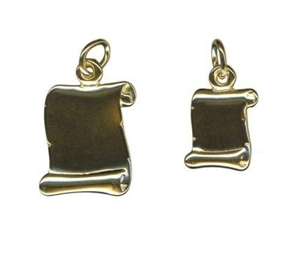 Charm - SCROLL - Sterling Silver or 9ct Gold