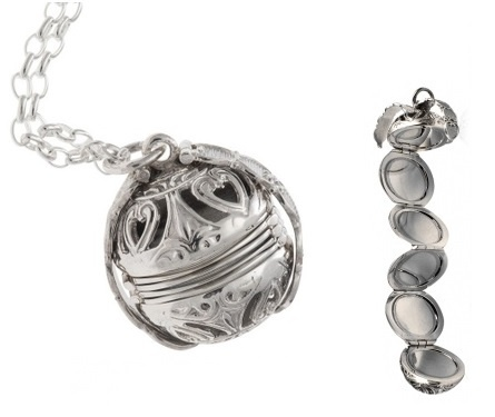 Locket - FILIGREE PHOTOBALL  - Sterling Silver