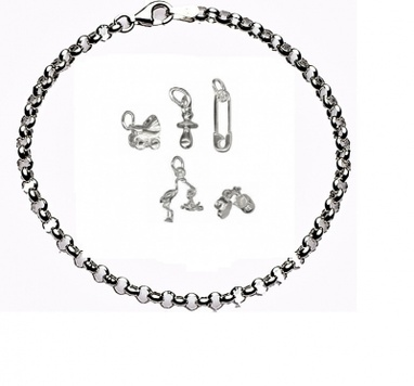CHARMED BY BABIES Bracelet - Sterling Silver