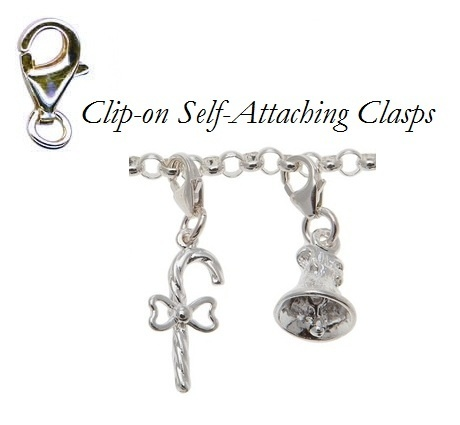 Attachment - CLIP-ON CLASP - Sterling Silver or 9ct Gold