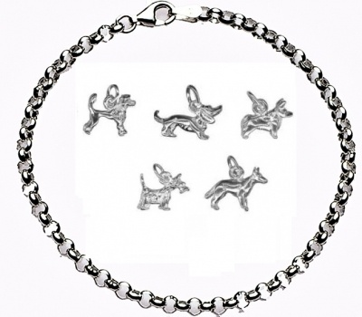 CHARMED BY DOGS Bracelet - Sterling Silver