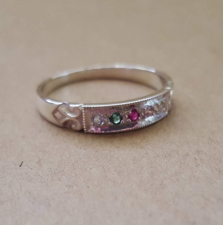 Family Or Mother S Birthstone Ring In Solid Yellow Rose