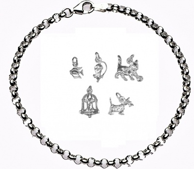 CHARMED BY PETS Bracelet - Sterling Silver