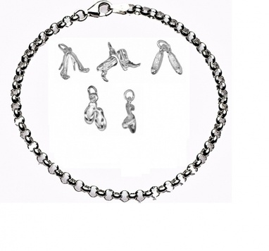 CHARMED BY SHOES Bracelet - Sterling Silver