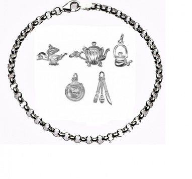CHARMED BY TEA TIME Bracelet - Sterling Silver