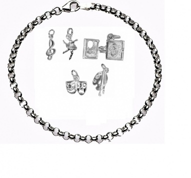 CHARMED BY THE ARTS Bracelet - Sterling Silver