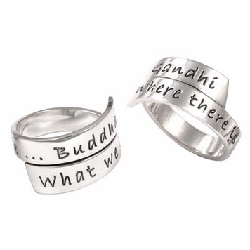 Poetic Pieces - ADJUSTABLE WRAP RING R3 - Sterling Silver