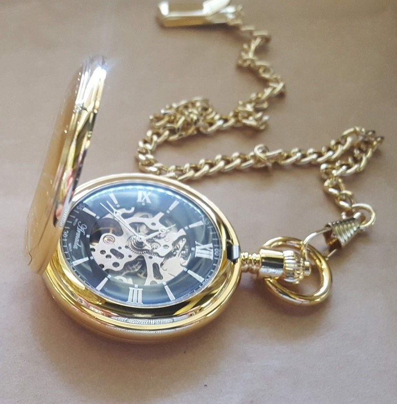 Pocket Watch - GOLD MECHANICAL - Boxed