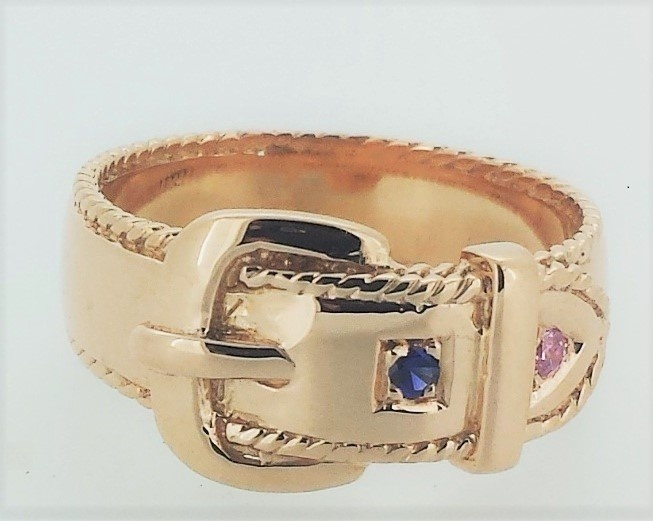 Ring - BUCKLE - Sterling Silver or 9ct Gold