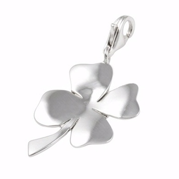 Poetic Pieces - LUCKY CLOVER CHARM - CH-Clover - Sterling Silver