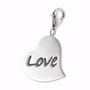 Poetic Pieces - LOVE CHARM CH-Heart -  Sterling Silver