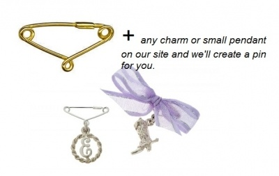 Charm Attaching Option - TINY PINS - Sterling Silver or 9ct Gold