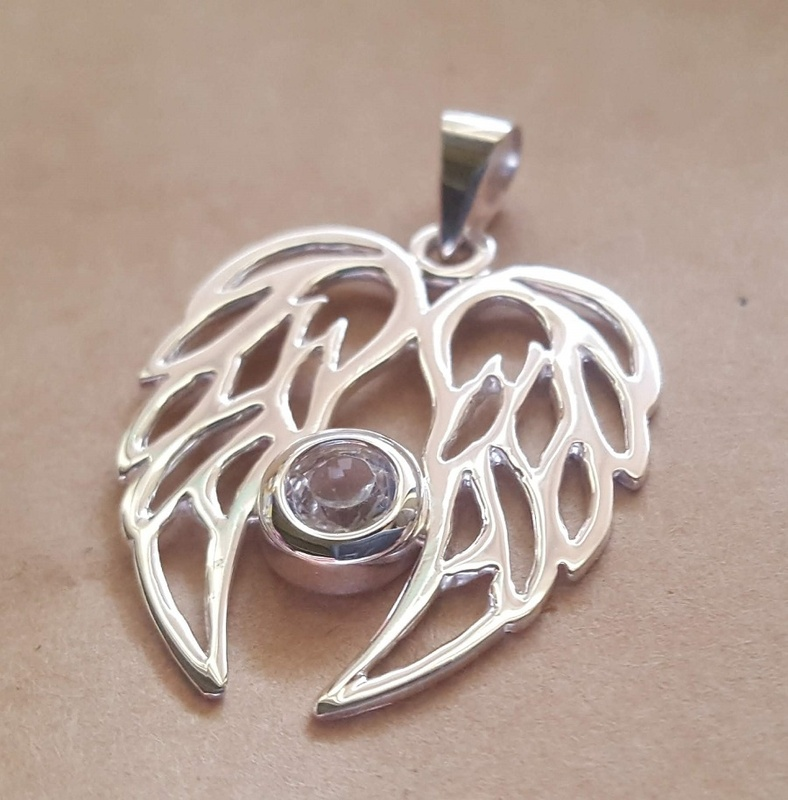 Filigree Angel Wings Pendant In Silver Or 9ct Gold Set