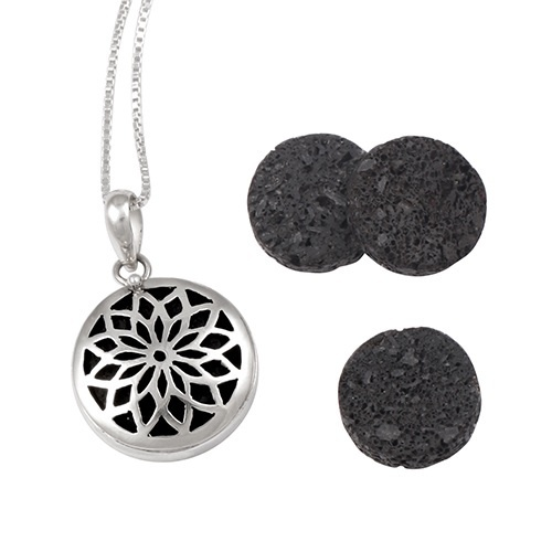 Pendant - AROMATHERAPY LOCKET - Sterling Silver