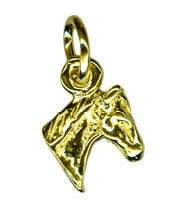 Charm - TINY HORSE HEAD - Sterling Silver or 9ct Gold