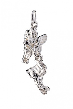 Fairy Helper - The BIG-BOOT Fairy - Sterling Silver