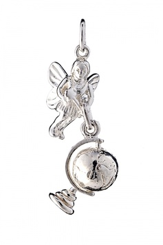 Fairy Helper - The FLIT-SAFELY-AROUND-THE-WORLD Fairy - Sterling Silver