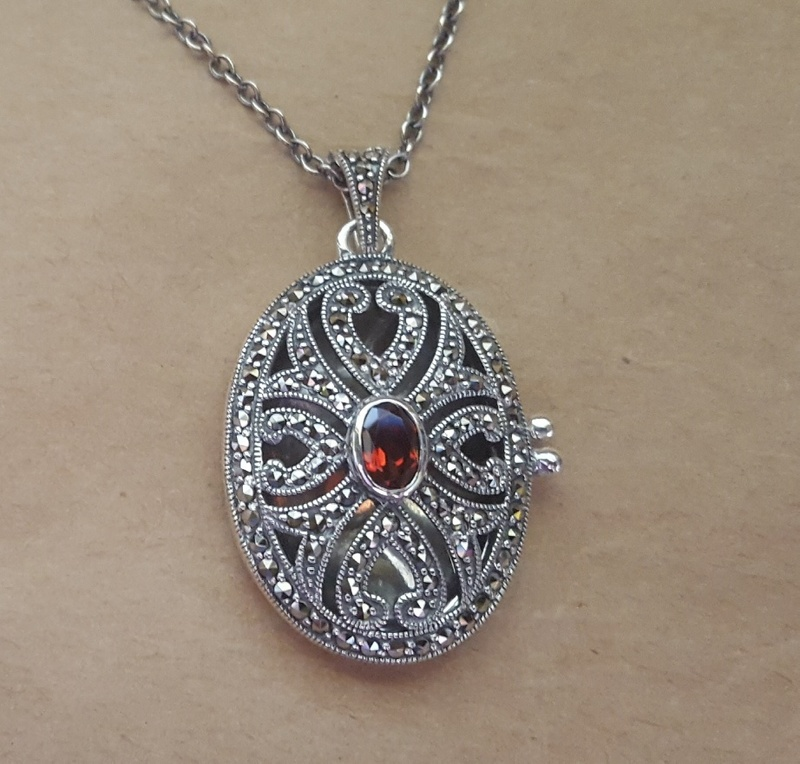 Locket - MARCASITE FILIGREE - Sterling Silver