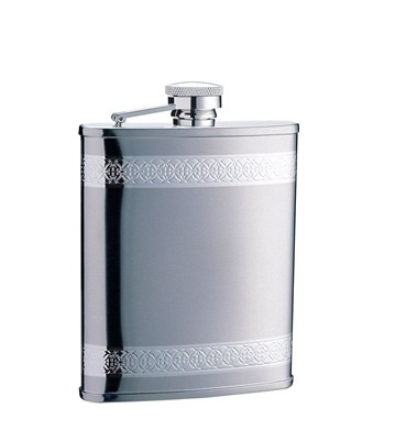 Hip Flask - CELTIC DOUBLE BAND - Stainless Steel