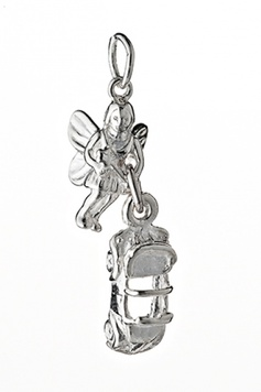 Fairy Helper - The NEVER-DRIVE-FASTER-THAN-YOUR-FAIRIES-CAN-FLY Fairy - Sterling Silver