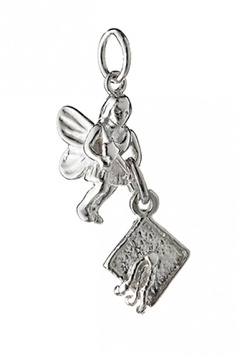 Fairy Helper - The STUDY-STUDY-STUDY Fairy - Sterling Silver