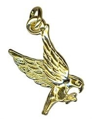 Charm - EAGLE FLYING - Sterling Silver or 9ct Gold