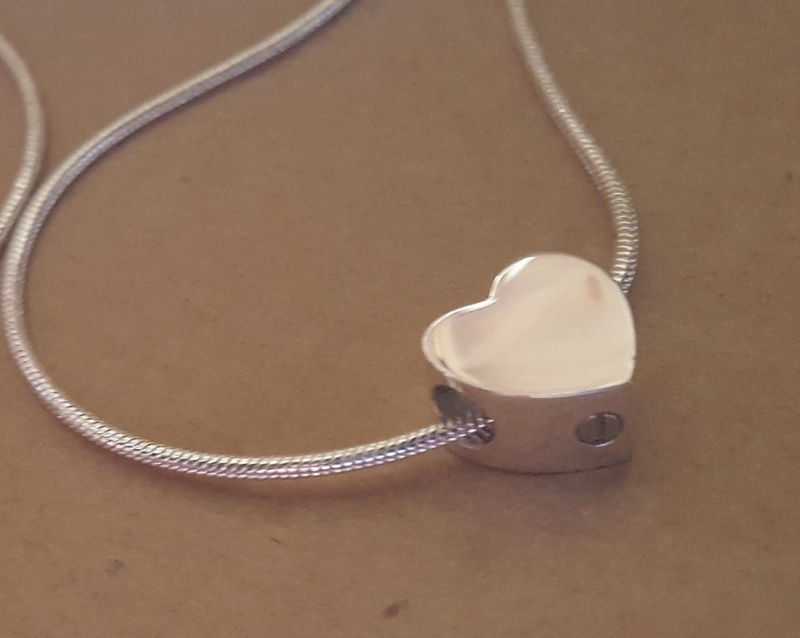 Slider Charm - KEEPSAKES & ASHES - Sterling Silver