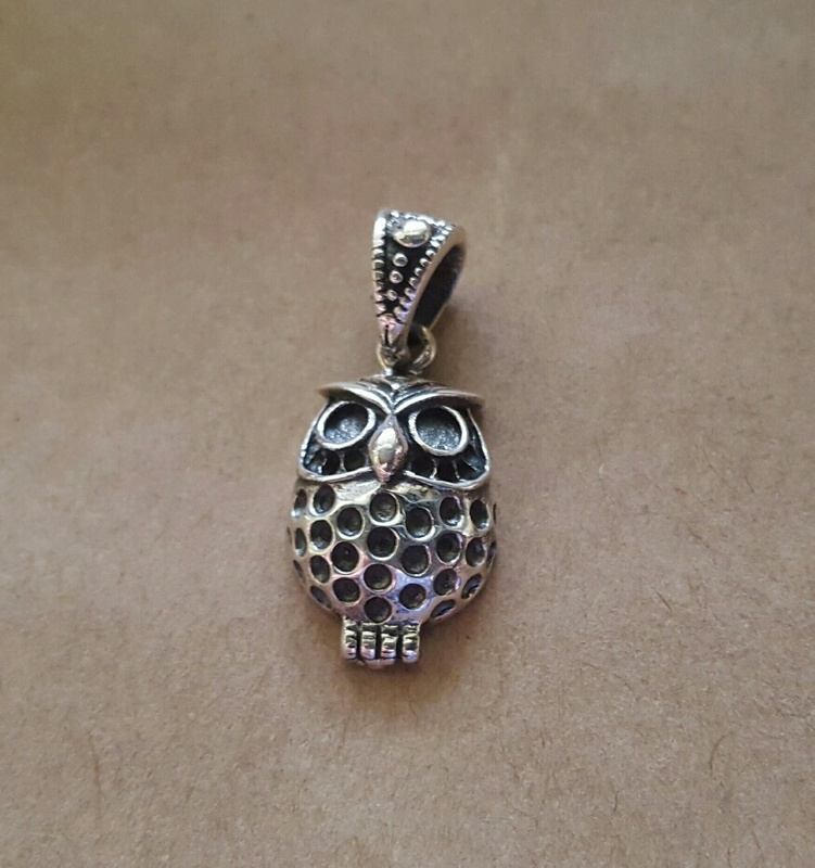 Pendant - OWL - Sterling Silver