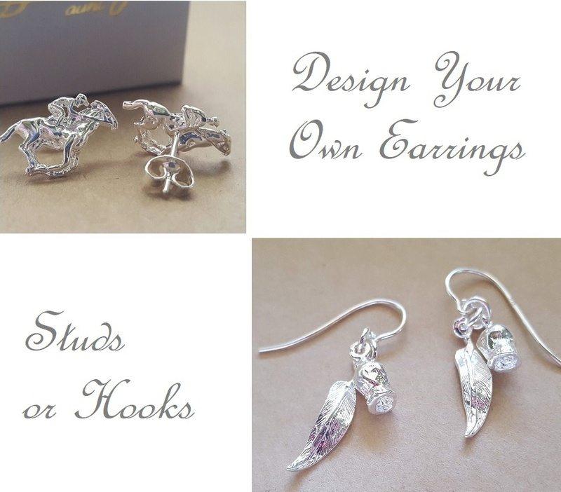Earrings - DESIGN YOUR OWN - Sterling Silver or 9ct Gold
