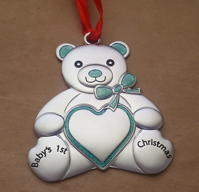 Christmas Ornament - TEDDY BEAR - Personalised