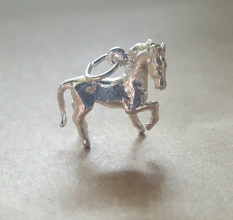 Charm - PRANCING HORSE - Sterling Silver or 9ct Gold