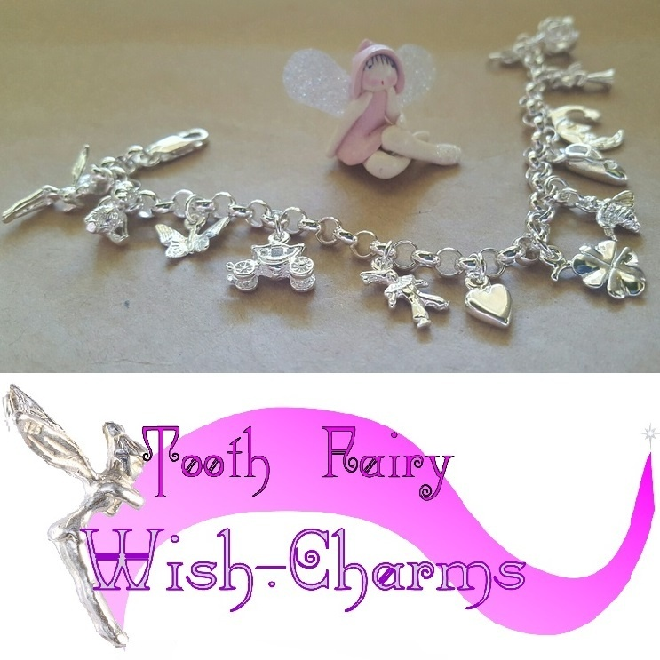 6bb81c8f5f6cc Bracelet - TOOTH-FAIRY WISH CHARMS - Sterling Silver