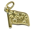Charm - AUSTRALIAN FLAG - Sterling Silver or 9ct Gold