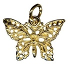 Charm - FILIGREE BUTTERFLY - Sterling Silver or 9ct Gold