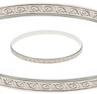 Bangle - EMBOSSED - Sterling Silver or 9ct Gold
