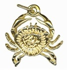Charm - CRAB - Sterling Silver or 9ct Gold