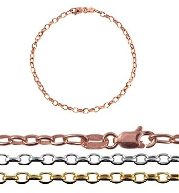 Bracelet - BABY CHAIN - 9ct Yellow, Rose or White Gold