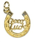 Charm - GOOD LUCK HORSESHOE - Sterling Silver or 9ct Gold