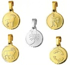 Zodiac - ROUND SMALL- Fine Silver or 9ct Gold