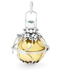 Harmony Ball Opening -  LANTERN GEMSTONE - Bella Donna Sterling Silver & Brass