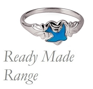 Signet Ring - Ready Made BLUE BIRD- Sterling Silver