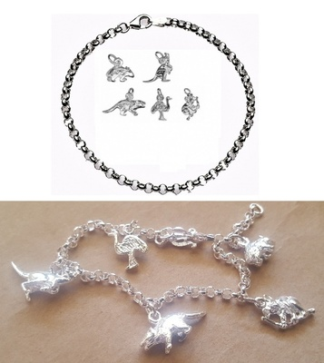 CHARMED BY AUSTRALIAN ANIMALS Bracelet - Sterling Silver