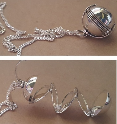Locket - PHOTOBALL PLAIN - Sterling Silver