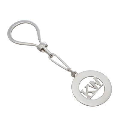 Keyring - CUSTOM-MADE INITIALS - Sterling Silver