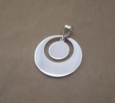 Pendant - ENCIRCLED - Sterling Silver and 9ct Gold