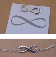 Pendant or Charm - INFINITY - Sterling Silver